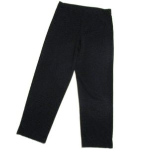 Exclusively Misook Black Acrylic Crop Pants Small